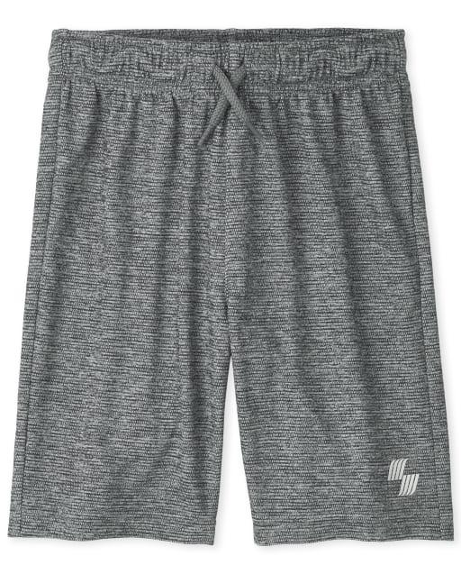 Shorts de baloncesto de alto rendimiento PLACE Sport Marled Knit para niños