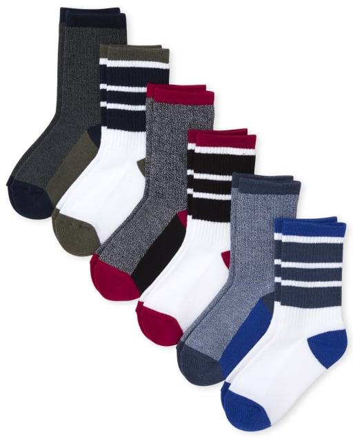 Pack de 6 pares de calcetines deportivos acolchados para niños