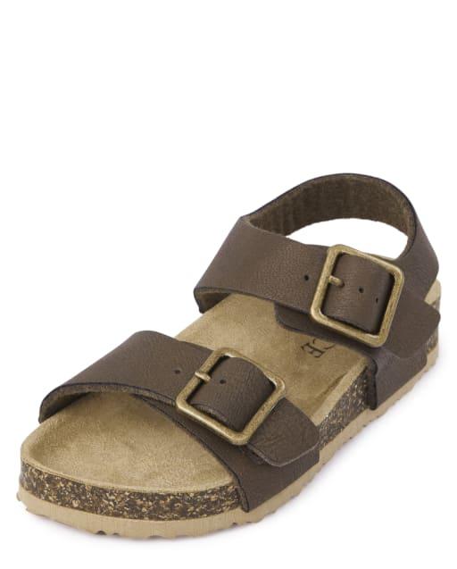 Sandalias de doble correa para niños pequeños