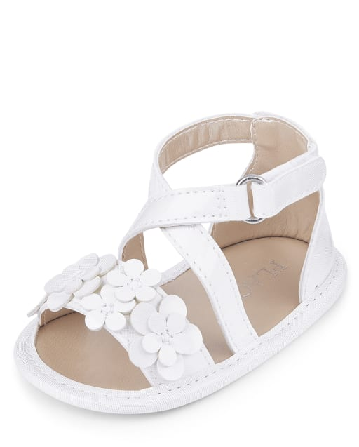 Baby Girls Flower Cross Strap Sandals