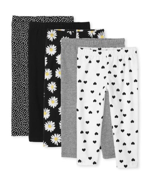 Girls Print Knit Capri Leggings 5-Pack