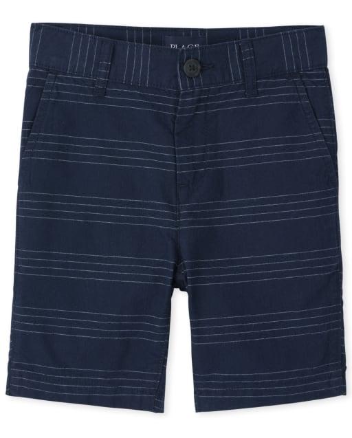 Boys Striped Woven Chino Shorts