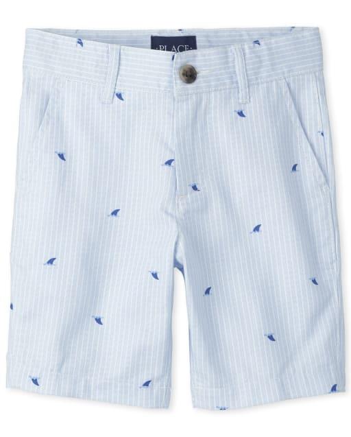 Boys Striped Oxford Chino Shorts