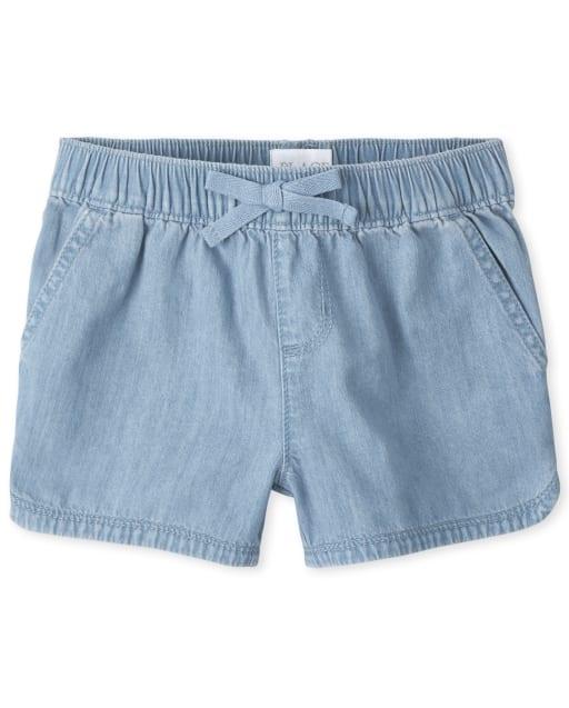 Girls Denim Pull On Shorts