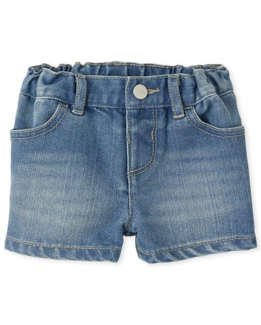 Baby And Toddler Girls Denim Shortie Shorts