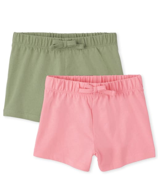 Toddler Girls Mix And Match Knit Shorts 2-Pack