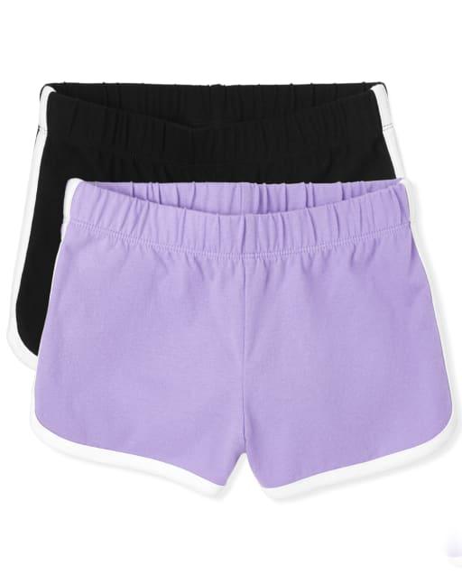 Pack de 2 pantalones cortos con delfines para niñas