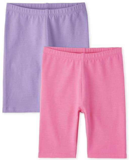 Girls Mix And Match Knit Bike Shorts 2-Pack