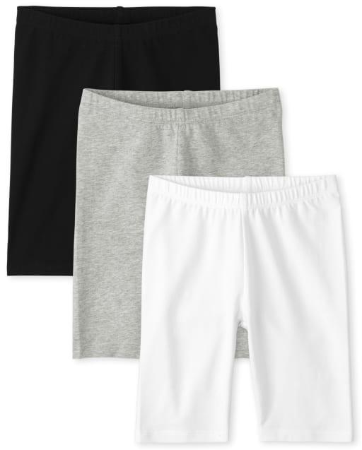 Pack de 3 pantalones cortos de ciclismo de punto Mix And Match para niñas