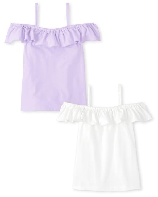 Pack de 2 top con hombros descubiertos para niñas