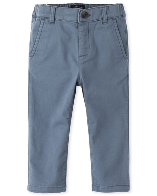 Baby And Toddler Boys Stretch Woven Skinny Chino Pants