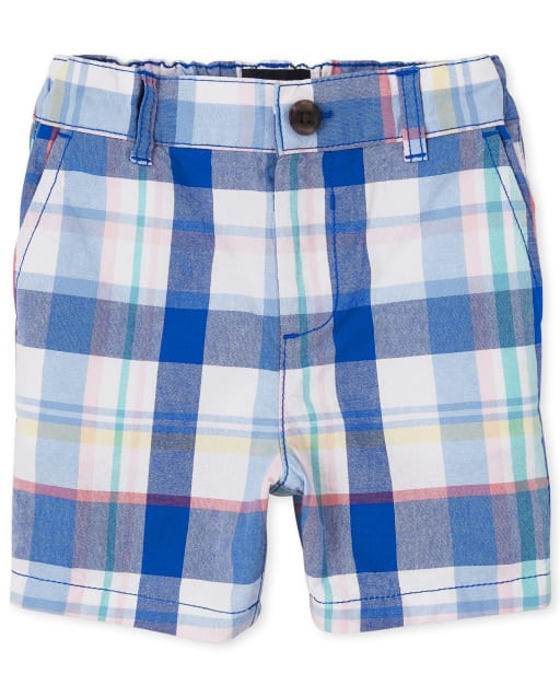 Baby And Toddler Boys Woven Plaid Chino Shorts