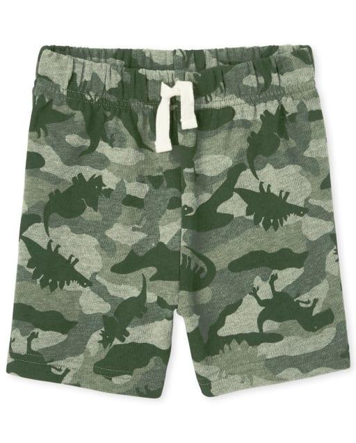 Shorts de punto con estampado de camuflaje Dino para bebés y niños pequeños