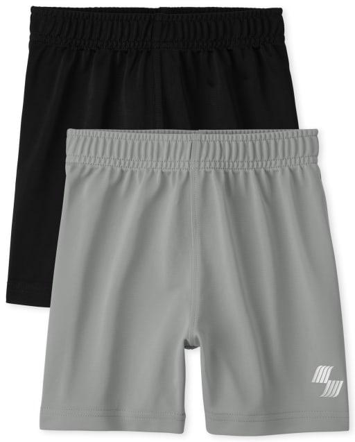 Pack de 2 pantalones cortos de baloncesto para bebés y niños pequeños