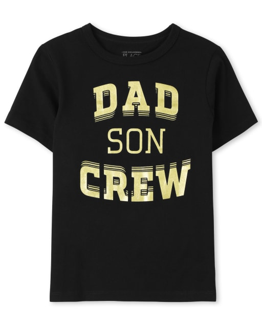 Baby And Toddler Boys Matching Family Short Sleeve 'Dad Son Crew' Graphic Tee