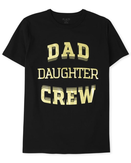 Mens Matching Family Short Sleeve 'Dad Daughter Crew' Graphic Tee