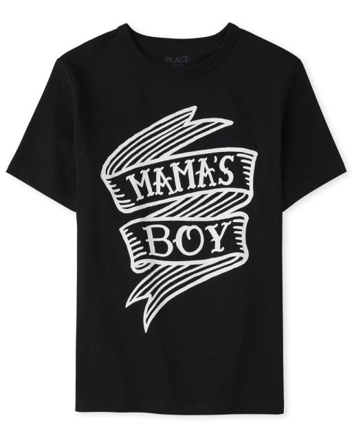 Boys Short Sleeve 'Mama's Boy' Graphic Tee