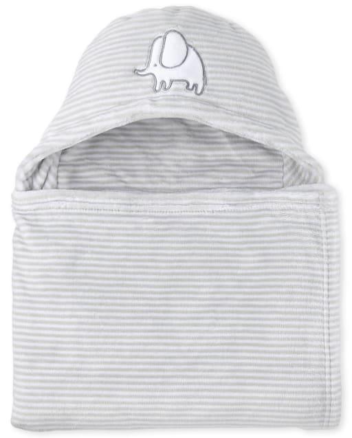 Unisex Baby Elephant Cozy Hooded Blanket