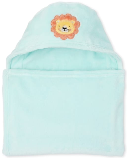 Baby Boys Lion Cozy Hooded Blanket
