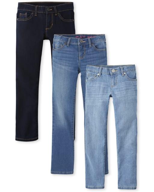 Girls Basic Skinny Jeans 3-Pack