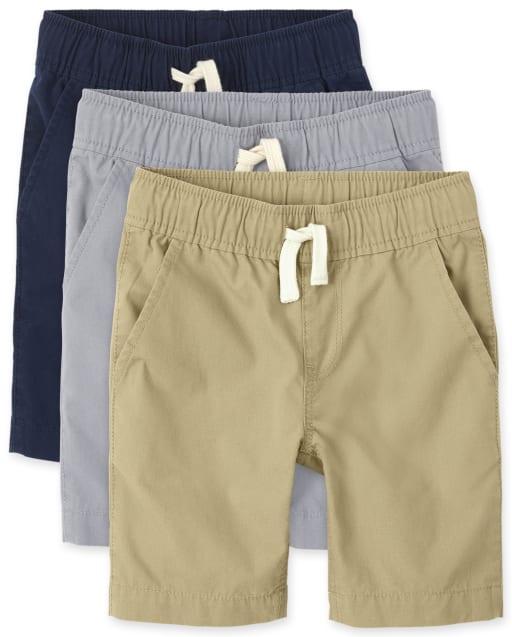 Pantalón de chándal tejido uniforme para niños, paquete de 3