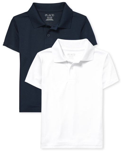 Boys Uniform Short Sleeve Performance Polo 2-Pack