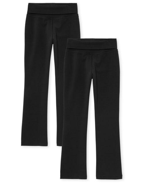 Paquete de 2 pantalones con cintura plegable para niñas