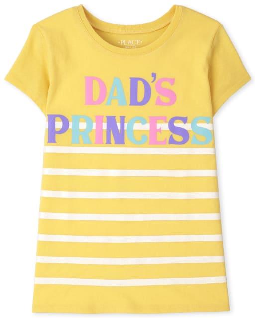 Girls Short Sleeve 'Dad's Princess' Graphic Tee