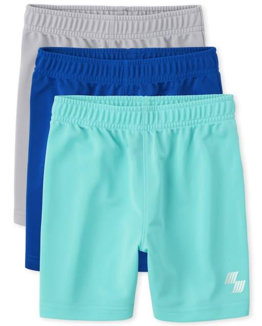 Pack de 3 pantalones cortos de baloncesto de punto deportivo PLACE para niños pequeños