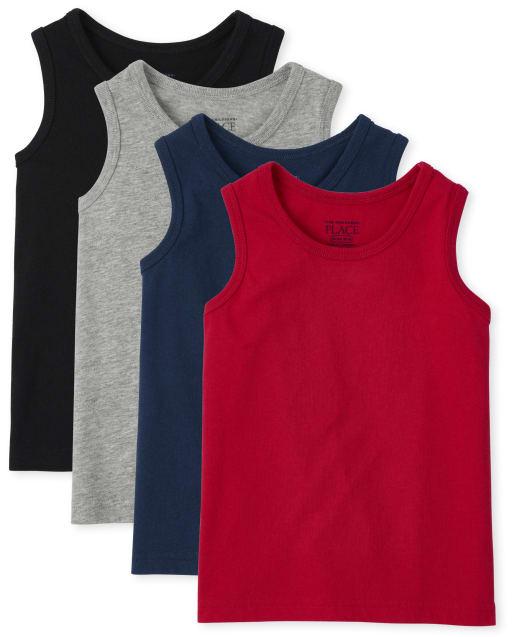 Pack de 4 camisetas sin mangas sin mangas Mix And Match para niños pequeños