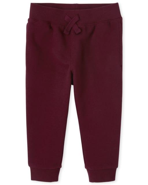 Pantalones de chándal de lana de uniforme para bebés y niños pequeños