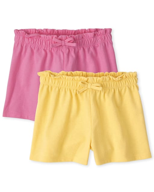 Toddler Girls Mix And Match Knit Swing Shorts 2-Pack