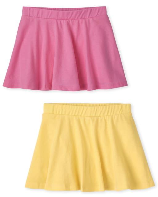 Toddler Girls Mix And Match Knit Skort 2-Pack