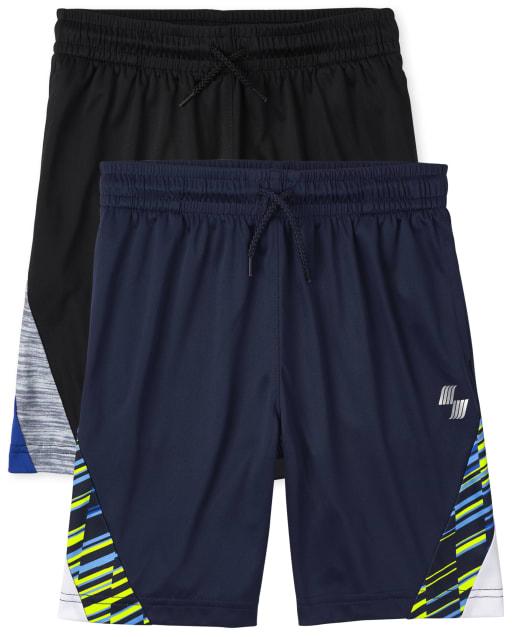Boys PLACE Sport Side Stripe Knit Performance Basketball Shorts 2-Pack