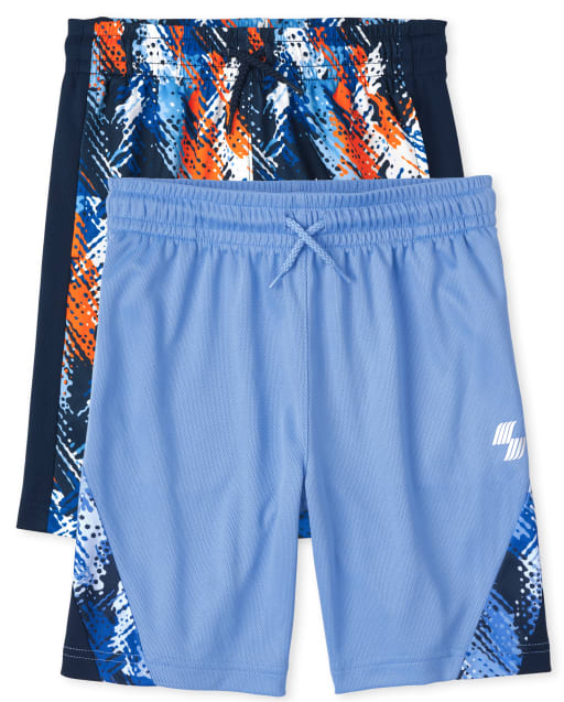 Boys PLACE Sport Print Knit Performance Basketball Shorts 2-Pack