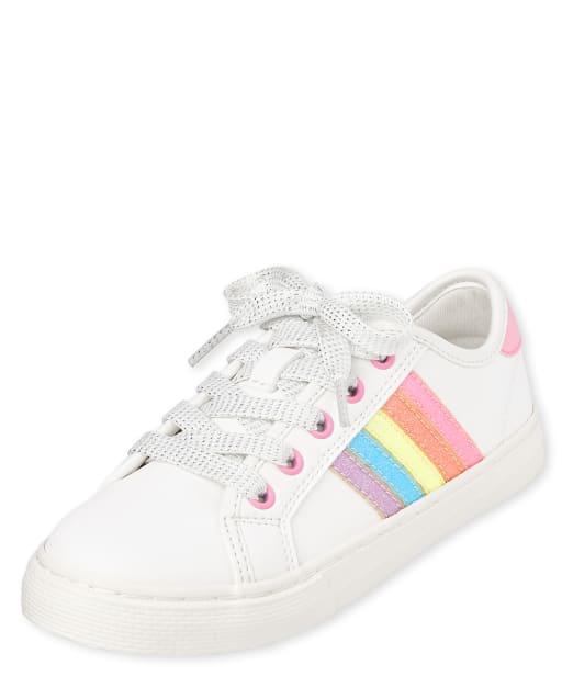Zapatillas de niña con purpurina arcoíris