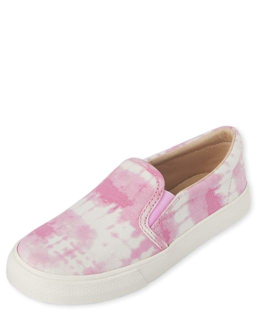 Zapatillas sin cordones con efecto tie dye para niñas