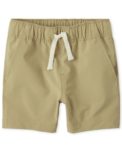 Pantalones cortos tipo jogger tejidos de secado rápido para bebés y niños pequeños