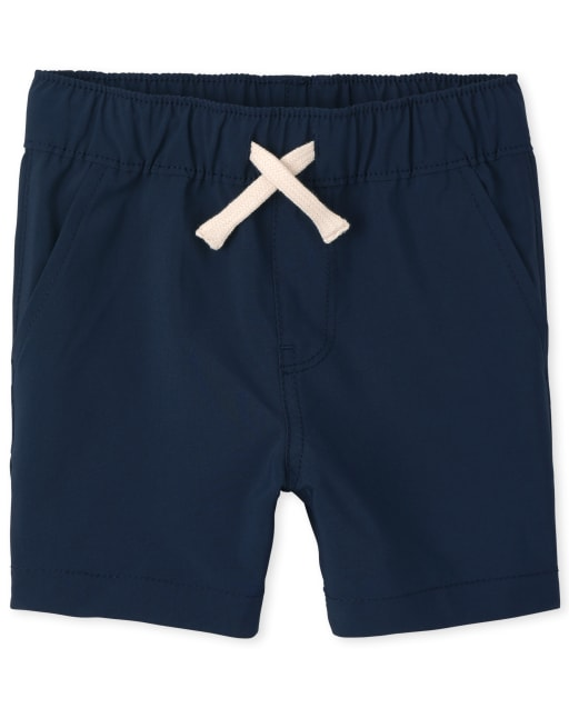 Baby And Toddler Boys Quick Dry Woven Pull On Jogger Shorts