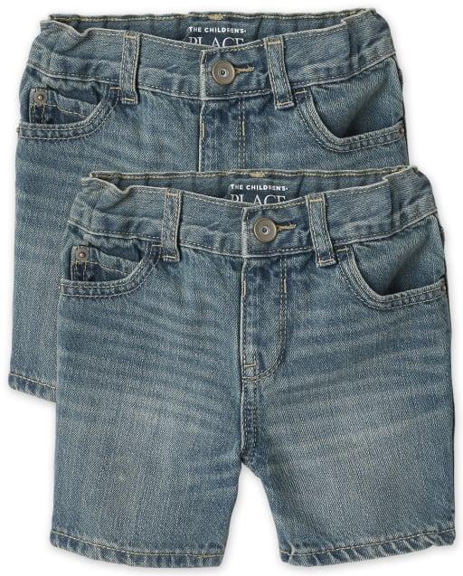 Paquete de 2 pantalones cortos de mezclilla para bebés y niños pequeños