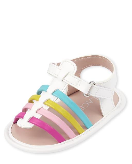 Baby Girls Rainbow Strappy Sandals