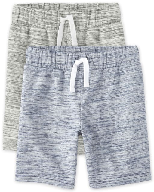 Pack de 2 pantalones cortos de felpa francesa para niño