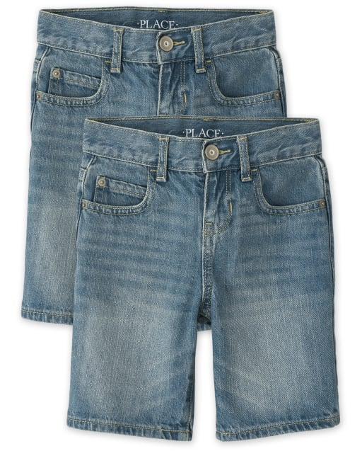Pack de 2 pantalones cortos de mezclilla para niños