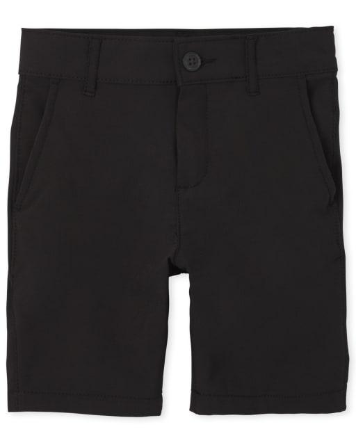 Pantalones cortos chinos de secado rápido tejidos de uniforme para niños