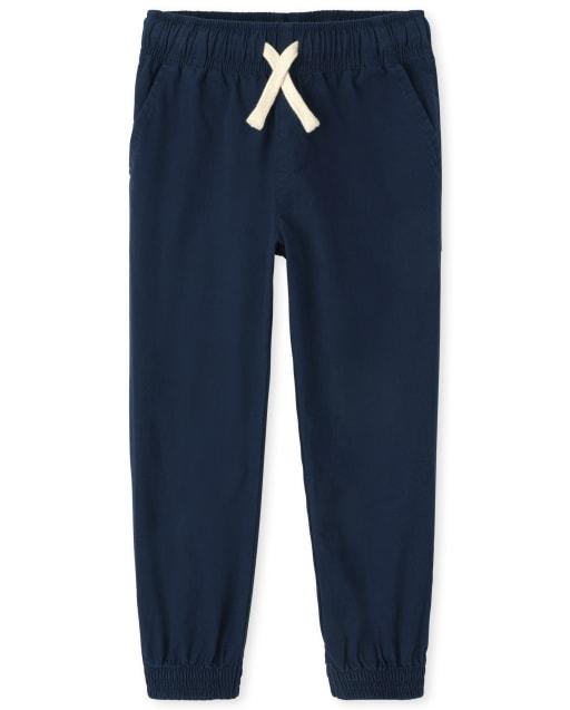 Boys Uniform Woven Stretch Pull On Jogger Pants