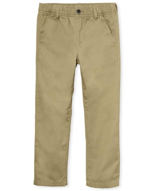 Boys Uniform Woven Stretch Pull On Chino Pants