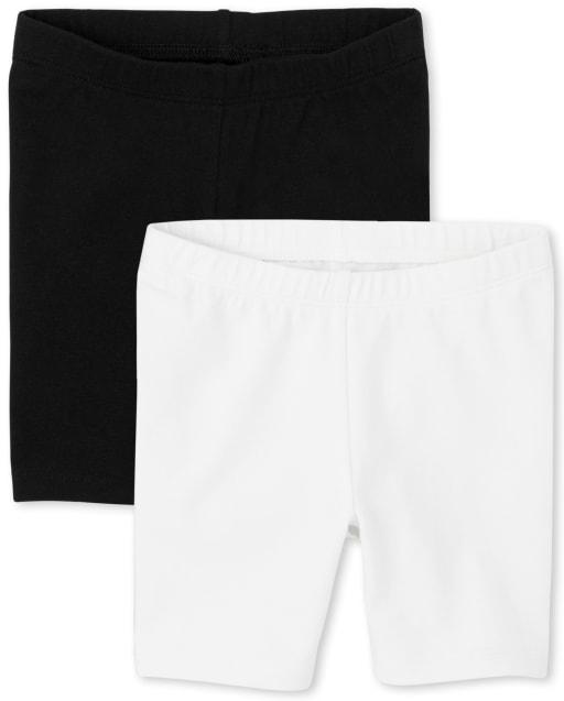 Paquete de 2 pantalones cortos de ciclismo para niñas pequeñas