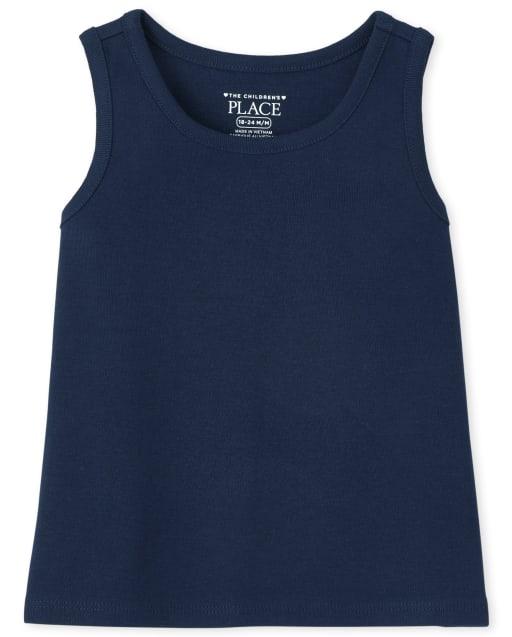 Camiseta sin mangas básica sin mangas uniforme para bebés y niñas pequeñas