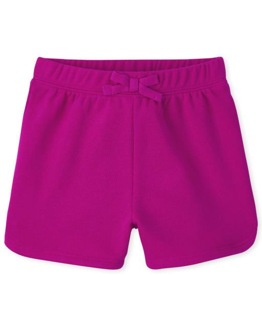Pantalones cortos de delfín de punto de uniforme para niñas pequeñas