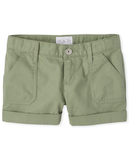 Girls Twill Shortie Shorts